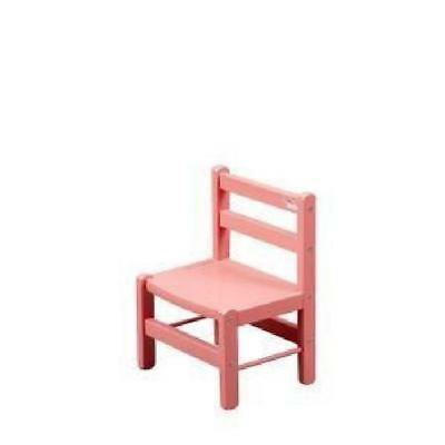 COMBELLE Chaise basse laque rose