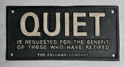 Unusual <> Iron Pullman Co, Quiet For Retired Sign <> FREE SH USA Foundry Made