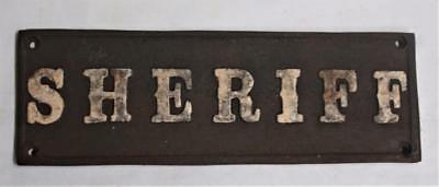 """Classy Iron Sign <> Sheriff <> 8 1/2"""" x 2 2/3"""" Raised Border and Letters"""