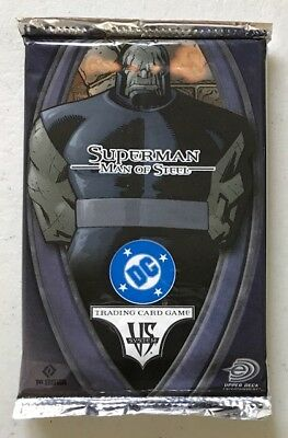 Superman Man of Steel Vs System TCG Booster Pack Factory Sealed English 1st Ed