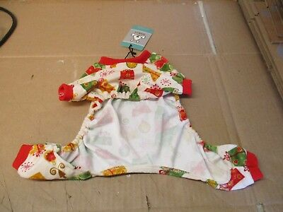 Cutebone Dog Pajamas/jumpsuit W/presents Design Size S Nwt Fast/free Shipping