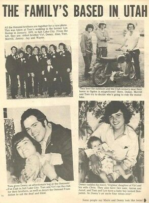 The Osmond Brothers, Full Page Vintage Clipping, Osmonds, Donny