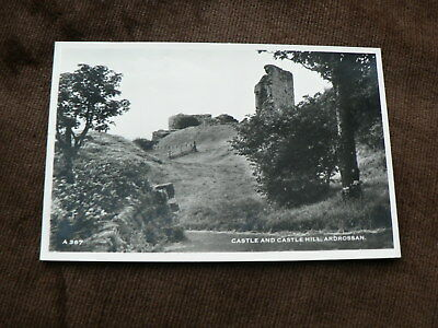Old Photo Postcard, Castle + Castle Hill, Ardrossan, North Ayrshire, Scotland