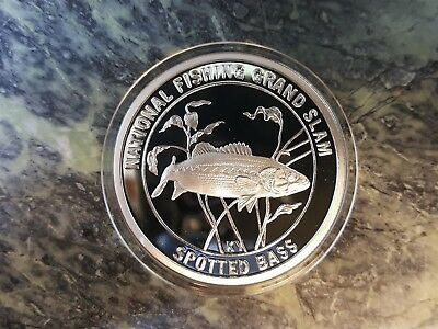 Spotted Bass North American Fishing Club Grand Slam Silver Plate Collector Coin
