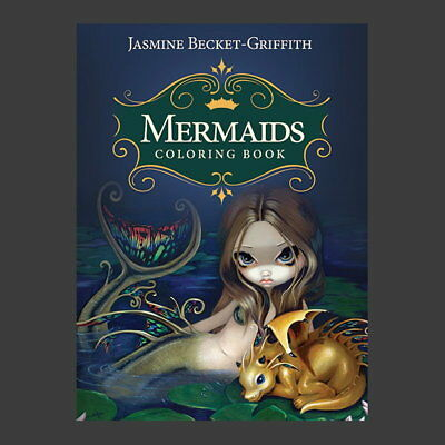 STRANGELING MERMAID COLOURING BOOK By Jasmine Becket-Griffith Fantasy Art