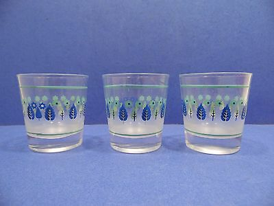 "Marcrest Swiss Alpine Chalet Tumbler Set of 3 On The Rocks 3.25"" Mid Century 50s"