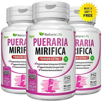 180 PURE PUERARIA MIRIFICA BREAST GROWTH CAPSULES BUST ENLARGEMENT PILLS 5000mg