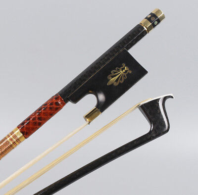 4/4 Violin Bow Carbon Fiber Stick Straight Pernambuco Performance Master Level