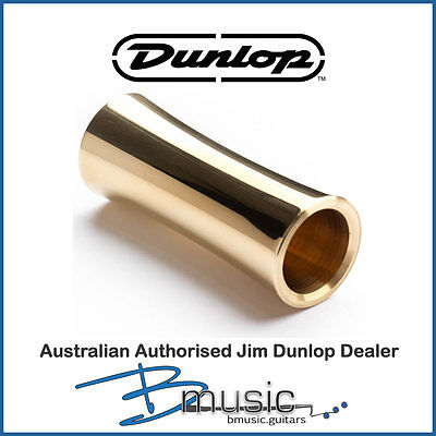 Jim Dunlop Concave Brass Slide - Authorised Australian Dunlop Platinum Dealer