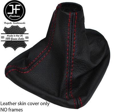 Red Stitching Real Leather Gear Gaiter Cover Fits Seat Leon Mk2 2005-2012