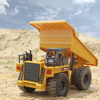 Alloy 2.4G 6CH RC Truck Navvy Dump Truck With Light Kids RC Toys Christmas Gift