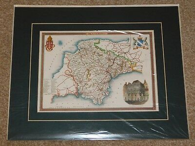 Reproduction Of An Antique Devonshire Map, Card Mounted