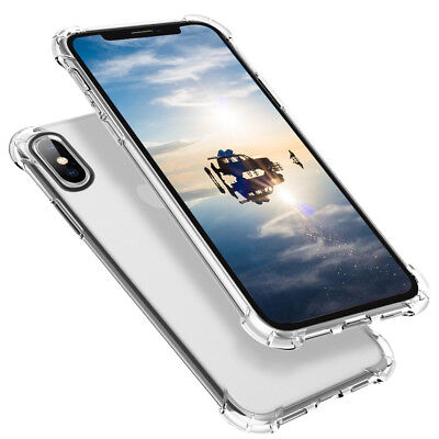 For iPhone XS Max/XR/X/8 7 Plus Phone Case Silicone Clear Transparent TPU Rubber