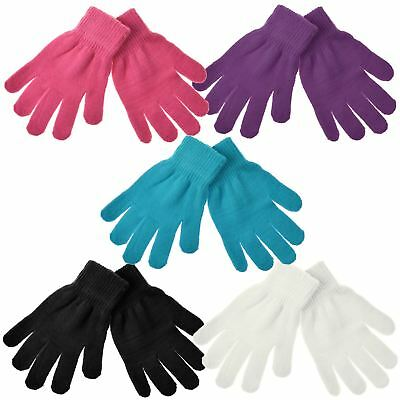 Medium Unisex Magic Thermal Gloves Warm Winter Knitted Stretch One Size Fit All