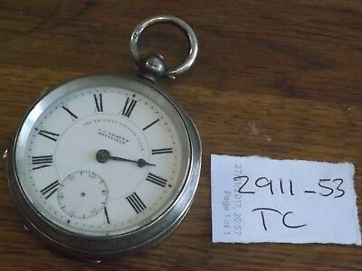 1901 Silver Cased English Lever Pocket Watch In  J Graves Sheffield