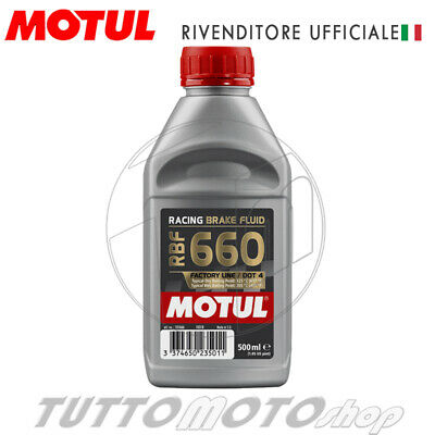 500 Ml Liquido Freno Racing Motul Rbf 660 100% Sintetico Olio Freni Brake Fluid