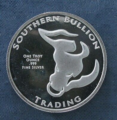 Southern Bullion Trading SBT 1 Troy Oz .999 Fine Silver Round - Divided Quarters