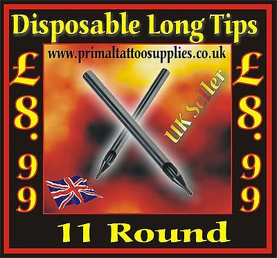 50 disposable tips 11 Round - (Tattoo Supplies - Grips - Inks - Tattoo Needles)