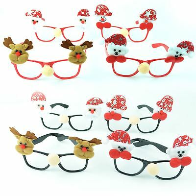 8 Christmas Glasses Specs Novelty Xmas Sunglasses Fancy Dress Party Accessories