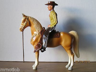 VINTAGE 1950's BREYER #343 COWBOY on PALOMINO w/BROWN SADDLE!