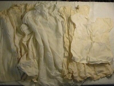 Vintage Antique Lot Of 5 Children's / Babies Christening And Sleep Gowns