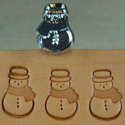 Craft Japan - #E592 Snowman Stamp (Leather Stamping Tool)