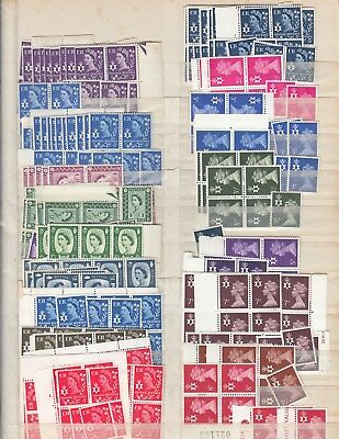 GREAT BRITAIN REGIONALS - ex dealer's accumulation on stockpages, MNH - 8 scans