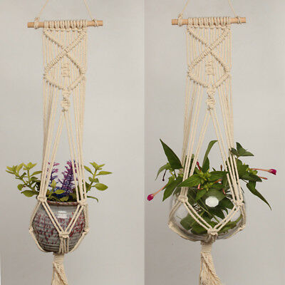 Macrame Plant Hanger Rope Flowerpot Holder Gardenpot Lifting Home Garden Rope