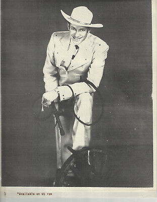 Hawkshaw Hawkins 8 x 10 Publicity Photo + King Records Promo - Grand Ole Opry