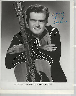 Autry Inman 2 8 x 10 Studio Publicity Photos 1 is Signed- Grand Ole Opry