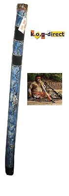 Didgeridoo Hardwood 120Cm Aboriginal Beautifully Hand Painted New Bl