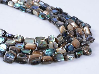 """0198 7mm Abalone shell loose beads 15"""""""