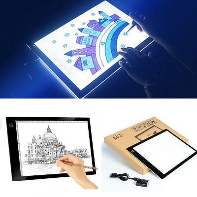 A4 LED Artcraft Tracing Dimmable Pad Light Box Artist Drawing Board Display