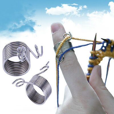 Practical Stainless Steel Fingertip DIY Weaving Thread Leading Knitting Tool