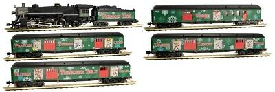 Micro-Trains N Scale Reindeer Belt Christmas Train-Only Set 99321260