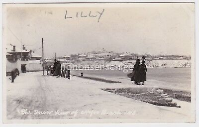 China Chefoo Beach The Snow View Of Vintage Photograph E20C - 04