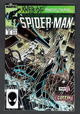 Web of Spider-Man #31 Marvel 1987 VF+ Kraven's Last Hunt 'The Coffin' Pt 1 Zeck