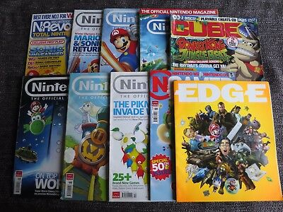 Joblot Of 10 Nintendo Magazines Bundle Cube Nrevolution Edge Ngamer