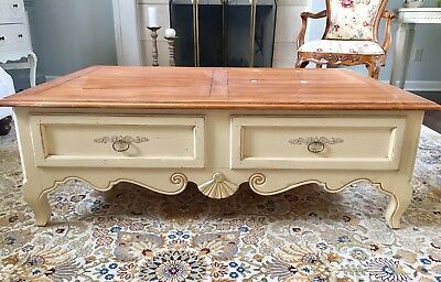 Ethan Allen French Country Cottage Coffee Table Birch 975 Retail