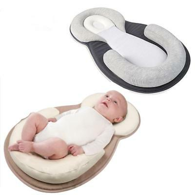 Newborn Baby Infant Anti Roll Prevent Flat Pillow Head Support Neck CB