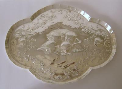 A Fine Quality Large Sterling Silver Dressing Table Tray London 1897 328 Grams