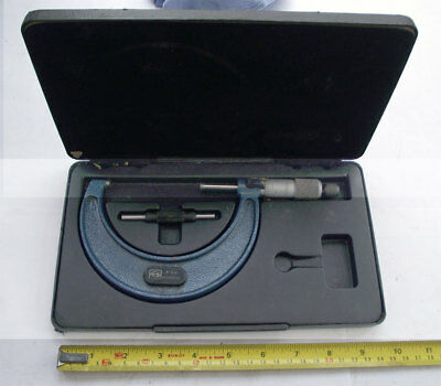 MOORE & WRIGHT 3-4 inch 0.0001 inch MICROMETER with Anvil in Original Case