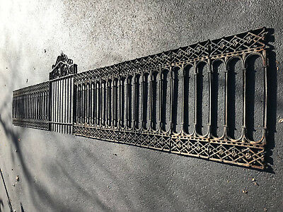 Very Rare 1800's Cast Iron Garden Fence