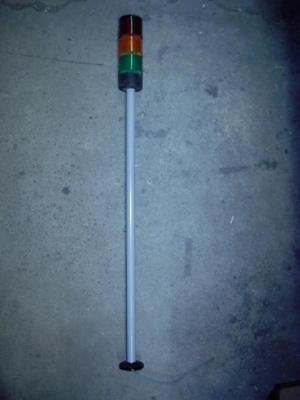 "Telemecanique Xva-Lc3 Red Orange Green Stack Light W/ 30"" Pole And Cap"