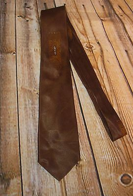 Vintage Men's Brown Satin Dressy Necktie Neck Tie 1930s 1940s
