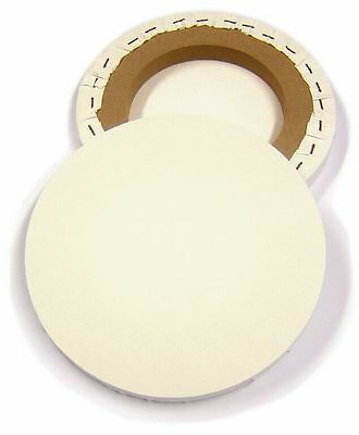 "Artist Round Blank Canvas 8"" 20cm Diameter Primed Stretched Oil Acrylic CAN08R"