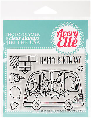 Avery Elle ST-1646 Clear Stamp Set 4X3-Simply Said Hugs