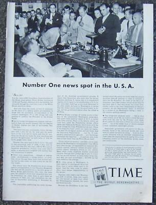1940 Bill Donaldson, Superintendent of the House Press Gallery Time Magazine Ad