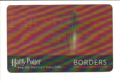 Borders Harry Potter & Deathly Hallows Lenticular Gift Card No$Value Collectible