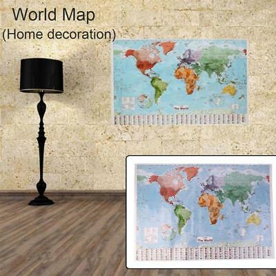 Large Map of the World Poster 97.5 x 67.5 cm Flags Wall Chart Decor Print Brand